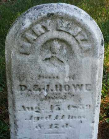 HOWE, MARY ELIZA - Warren County, Ohio | MARY ELIZA HOWE - Ohio Gravestone Photos