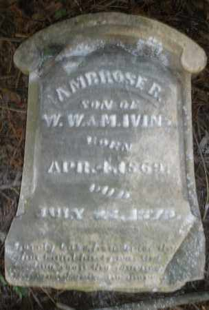 IVINS, AMBROSE B. - Warren County, Ohio | AMBROSE B. IVINS - Ohio Gravestone Photos