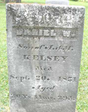 KELSEY, DANIEL W. - Warren County, Ohio | DANIEL W. KELSEY - Ohio Gravestone Photos