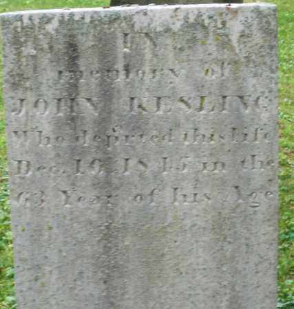 KESLING, JOHN - Warren County, Ohio | JOHN KESLING - Ohio Gravestone Photos
