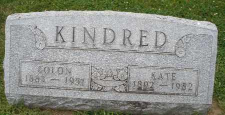 KINDRED, SOLON - Warren County, Ohio | SOLON KINDRED - Ohio Gravestone Photos