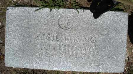 KING, CECIL E. - Warren County, Ohio | CECIL E. KING - Ohio Gravestone Photos