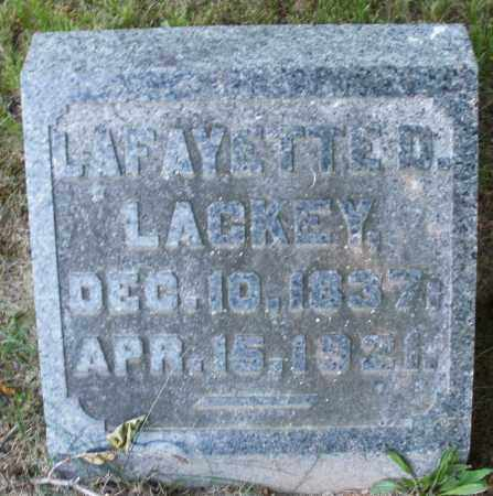 LACKEY, LAFAYETTE D. - Warren County, Ohio | LAFAYETTE D. LACKEY - Ohio Gravestone Photos