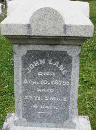 LANE, JOHN - Warren County, Ohio | JOHN LANE - Ohio Gravestone Photos