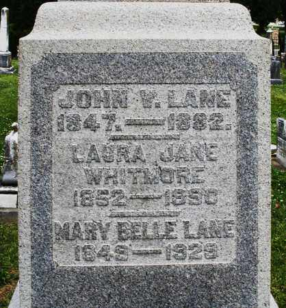 LANE, JOHN V. - Warren County, Ohio | JOHN V. LANE - Ohio Gravestone Photos