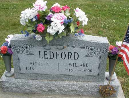 LEDFORD, ALYCE F. - Warren County, Ohio | ALYCE F. LEDFORD - Ohio Gravestone Photos