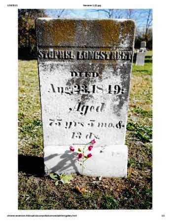 LONGSTREET, STOPHEL - Warren County, Ohio | STOPHEL LONGSTREET - Ohio Gravestone Photos