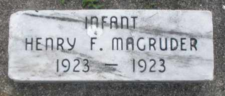 MAGRUDER, HENRY F. - Warren County, Ohio | HENRY F. MAGRUDER - Ohio Gravestone Photos