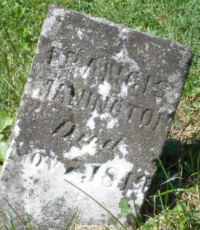 MANINGTON, FRANCIS - Warren County, Ohio | FRANCIS MANINGTON - Ohio Gravestone Photos