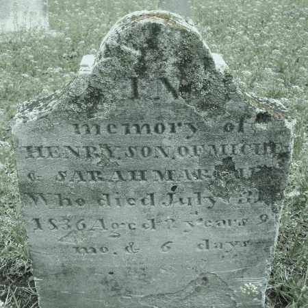 MARSH, HENRY - Warren County, Ohio | HENRY MARSH - Ohio Gravestone Photos
