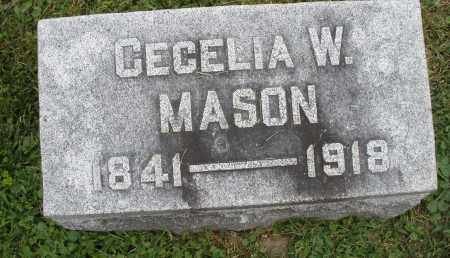 MASON, CECELIA W. - Warren County, Ohio | CECELIA W. MASON - Ohio Gravestone Photos