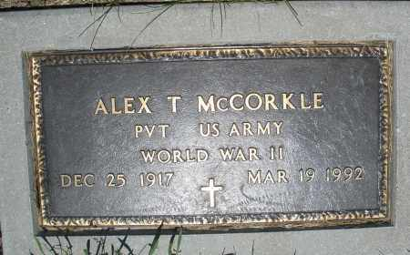 MCCORKLE, ALEX T. - Warren County, Ohio | ALEX T. MCCORKLE - Ohio Gravestone Photos