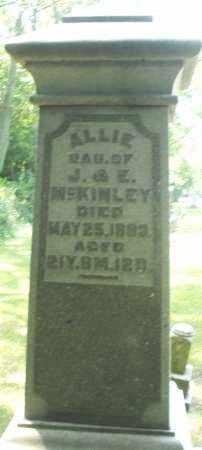 MCKINLEY, ALLIE - Warren County, Ohio | ALLIE MCKINLEY - Ohio Gravestone Photos