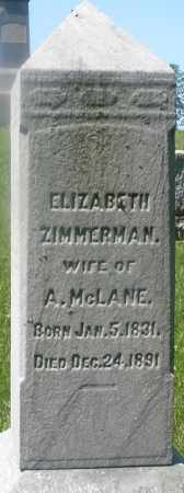 MC LANE, ELIZABETH - Warren County, Ohio | ELIZABETH MC LANE - Ohio Gravestone Photos