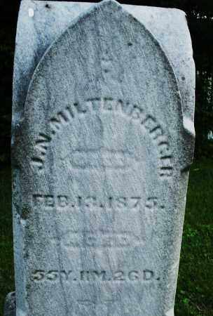 MILTENBERGER, J.N. - Warren County, Ohio | J.N. MILTENBERGER - Ohio Gravestone Photos