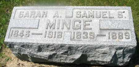 MINGE, SARAH  A. - Warren County, Ohio | SARAH  A. MINGE - Ohio Gravestone Photos