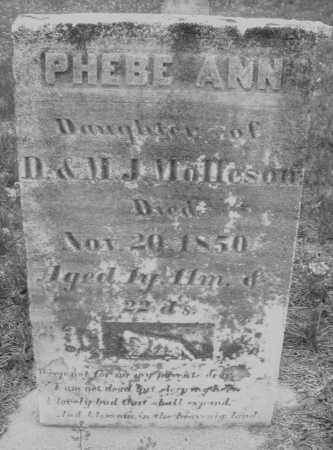 MOLLESON, PHEBE ANN - Warren County, Ohio | PHEBE ANN MOLLESON - Ohio Gravestone Photos