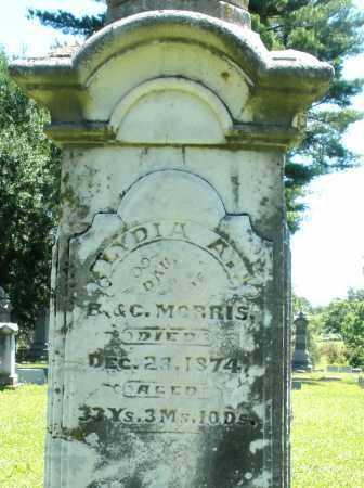 MORRIS, LYDIA A. - Warren County, Ohio | LYDIA A. MORRIS - Ohio Gravestone Photos
