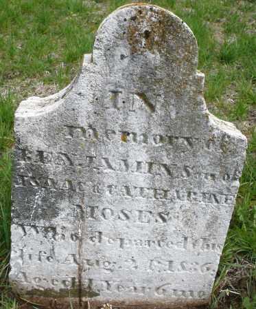 MOSES, BENJAMIN - Warren County, Ohio   BENJAMIN MOSES - Ohio Gravestone Photos