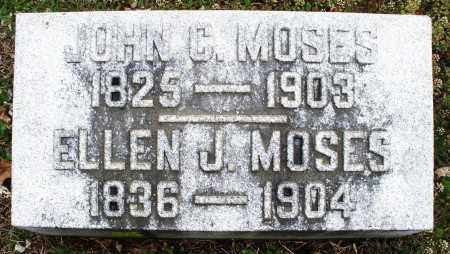 MOSES, JOHN C - Warren County, Ohio | JOHN C MOSES - Ohio Gravestone Photos