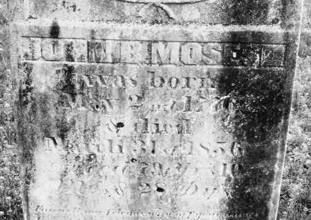MOSES, JOHN B. SEN - Warren County, Ohio | JOHN B. SEN MOSES - Ohio Gravestone Photos