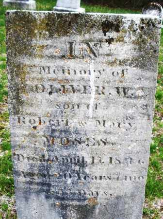 MOSES, OLIVER W. - Warren County, Ohio | OLIVER W. MOSES - Ohio Gravestone Photos