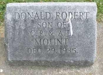 MOUNT, DONALD ROBERT - Warren County, Ohio | DONALD ROBERT MOUNT - Ohio Gravestone Photos