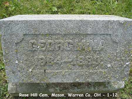 PARKHILL, GEORGIANA - Warren County, Ohio | GEORGIANA PARKHILL - Ohio Gravestone Photos