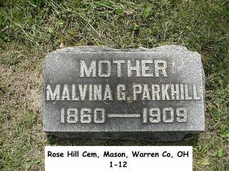BURSK PARKHILL, MALVINA - Warren County, Ohio | MALVINA BURSK PARKHILL - Ohio Gravestone Photos