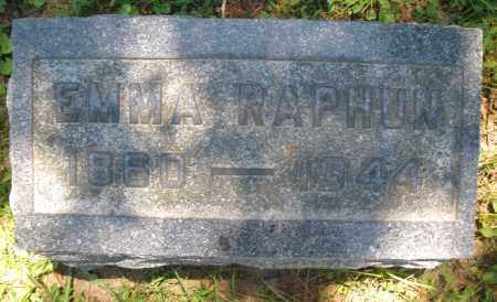 RAPHUN, EMMA - Warren County, Ohio | EMMA RAPHUN - Ohio Gravestone Photos