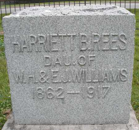 WILLIAMS RESS, HARRIETT B. - Warren County, Ohio | HARRIETT B. WILLIAMS RESS - Ohio Gravestone Photos