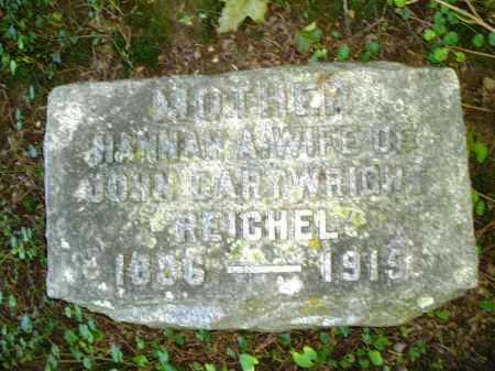 REICHEL, HANNAH - Warren County, Ohio | HANNAH REICHEL - Ohio Gravestone Photos