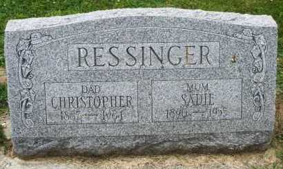 RESSINGER, CHRISTOPHER - Warren County, Ohio | CHRISTOPHER RESSINGER - Ohio Gravestone Photos