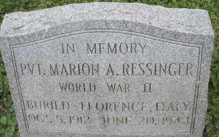 RESSINGER, MARION A. - Warren County, Ohio | MARION A. RESSINGER - Ohio Gravestone Photos
