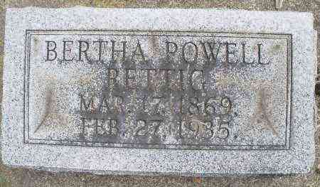 POWELL RETTIG, BERTHA - Warren County, Ohio | BERTHA POWELL RETTIG - Ohio Gravestone Photos