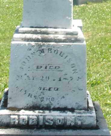ROBISON, JOHN M. - Warren County, Ohio | JOHN M. ROBISON - Ohio Gravestone Photos