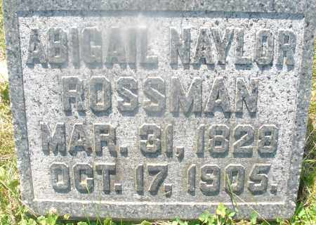 ROSSMAN, ABIGAIL - Warren County, Ohio | ABIGAIL ROSSMAN - Ohio Gravestone Photos