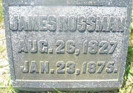 ROSSMAN, JAMES - Warren County, Ohio | JAMES ROSSMAN - Ohio Gravestone Photos