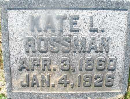 ROSSMAN, KATE L. - Warren County, Ohio | KATE L. ROSSMAN - Ohio Gravestone Photos