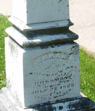 ROSSMAN, SARAH - Warren County, Ohio | SARAH ROSSMAN - Ohio Gravestone Photos