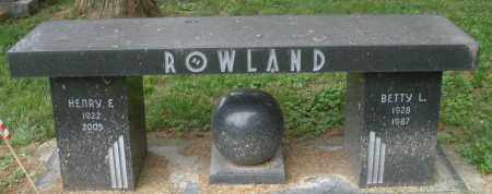 ROWLAND, BETTY L. - Warren County, Ohio | BETTY L. ROWLAND - Ohio Gravestone Photos