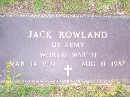 ROWLAND, JACK - Warren County, Ohio | JACK ROWLAND - Ohio Gravestone Photos
