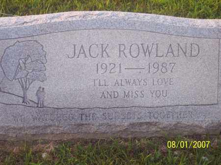 ROWLAND, JACK - Warren County, Ohio | JACK ROWLAND - Ohio Gravestone Photos