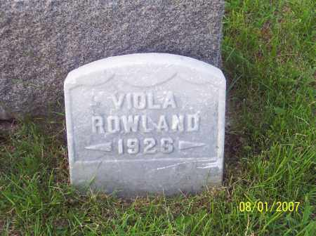 ROWLAND, VIOLA - Warren County, Ohio | VIOLA ROWLAND - Ohio Gravestone Photos