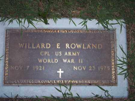 ROWLAND, WILLARD - Warren County, Ohio | WILLARD ROWLAND - Ohio Gravestone Photos