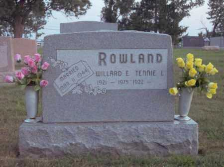 ROWLAND, TENNIE - Warren County, Ohio | TENNIE ROWLAND - Ohio Gravestone Photos