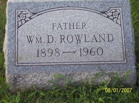 ROWLAND, WILLIAM DILLARD - Warren County, Ohio | WILLIAM DILLARD ROWLAND - Ohio Gravestone Photos