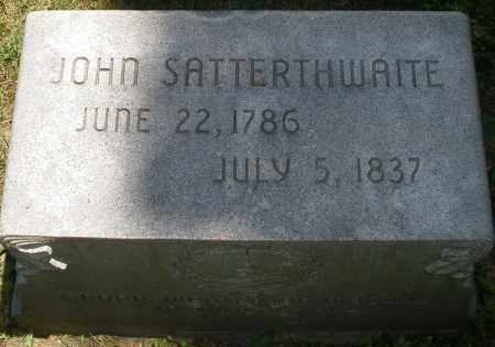 SATTERTHWAITE, JOHN - Warren County, Ohio | JOHN SATTERTHWAITE - Ohio Gravestone Photos
