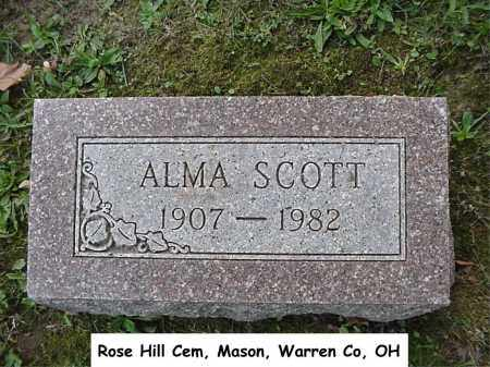 BURSK SCOTT, ALMA - Warren County, Ohio | ALMA BURSK SCOTT - Ohio Gravestone Photos