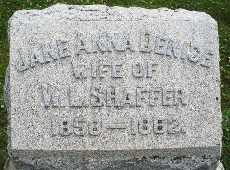 SHAFFER, JANE ANNA - Warren County, Ohio | JANE ANNA SHAFFER - Ohio Gravestone Photos
